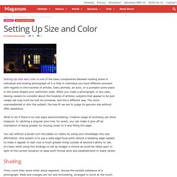 Setting Up Size and Color - Maganum