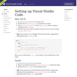 Setting up Visual Studio Code