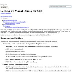 Setting Up Visual Studio for UE4