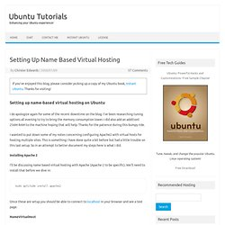 Setting Up Name Based Virtual Hosting on Ubuntu Server