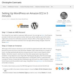 Setting Up WordPress on Amazon EC2 in 5 minutes