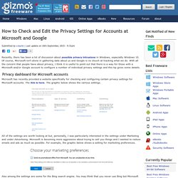 How to Check and Edit the Privacy Settings for Accounts at Microsoft and Google