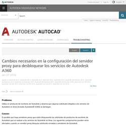 Proxy server settings changes required to unblock Autodesk A360 services