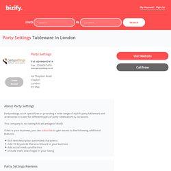 Party Settings - Business Profile Listing - bizify.co.uk