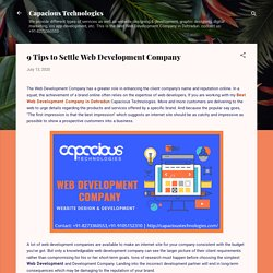 9 Tips to Settle Web Development Company