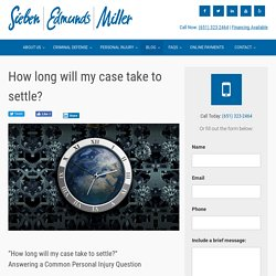 How long will my case take to settle?