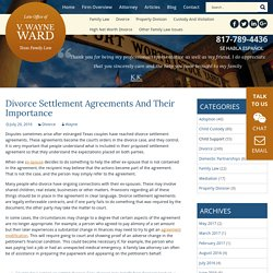 Divorce Settlement Agreements And Their Importance