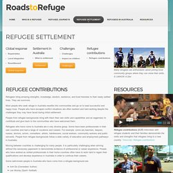 Refugee settlement contributions