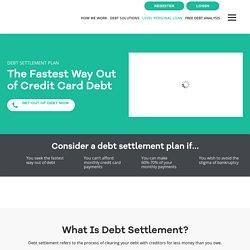 Debt Settlement Plan - Level Financing