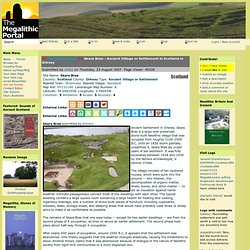 Skara Brae Ancient Village or Settlement