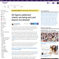 EA Sports settlement checks are being sent and players are pleased