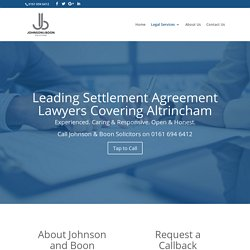 Settlement Agreement Solicitors in Altrincham