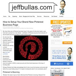 How to Setup Your Brand New Pinterest Business Page