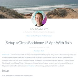 Setup a Clean Backbone JS App With Rails