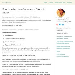 How to setup an eCommerce Store in India?