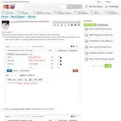 Setup Facebook app invites of an iOS app