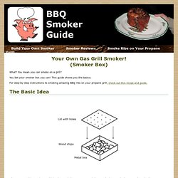 Setup a Gas Grill Smoker - Smoke On Your Own Grill!