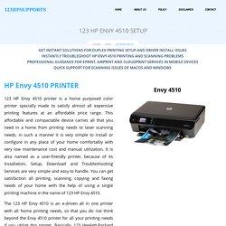 HP ENVY 4510 Setup, Install, Driver Download