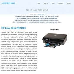 HP Envy 7645 Setup, Install & Troubleshoot