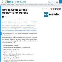 How to Setup a Free MediaWiki on Heroku - DZone Cloud