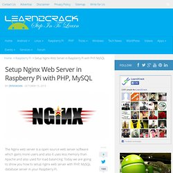 Setup Nginx Web Server in Raspberry Pi with PHP, MySQL