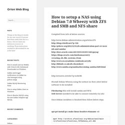 How to setup a NAS using Debian 7.0 Wheezy with ZFS and SMB and NFS share – Orion Web Blog