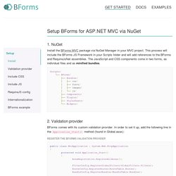 Setup via NuGet - BForms