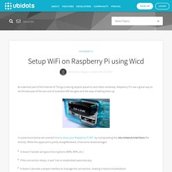 Setup WiFi on Raspberry Pi using Wicd