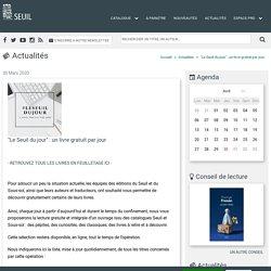 """""""Le Seuil du jour"""" : un livre gratuit par jour"""