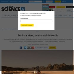 Seul sur Mars, un manuel de survie