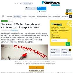 Seulement 37% des Français sont confiants dans l'usage d'Internet