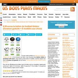 Ballon Foot Umbro à seulement 8,55 euros + livraison gratuite