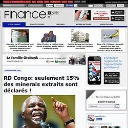RD Congo: seulement 15% des minerais extraits sont déclarés!