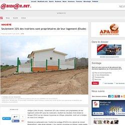 Seulement 32% des ivoiriens sont propri�taires de leur logement (Etude)