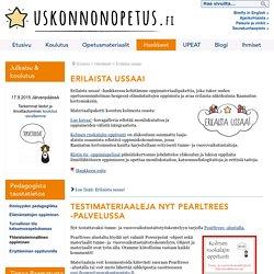 Erilaista ussaa - Seurakuntaopisto / Uskonnonopetus.fi