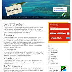 Sevärdheter – Zanzibar.se