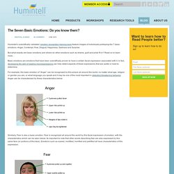 The Seven Basic Emotions: Do you know them? « Humintell