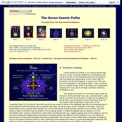 Seven Cosmic Paths - Path 4 - The Path to Sirius