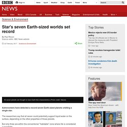Star's seven Earth-sized worlds set record
