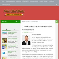 Seven Tech Tools for Fast Formative Assessment