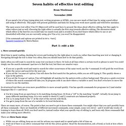 Vim: Seven habits of effective text editin