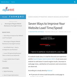 Seven Ways to Improve Your Website Load Time/Speed
