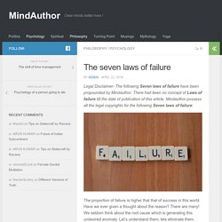 The seven laws of failure - MindAuthor
