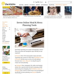 Seven Online Meal & Menu Planning Tools