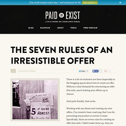 The Seven Rules of an Irresistible Offer