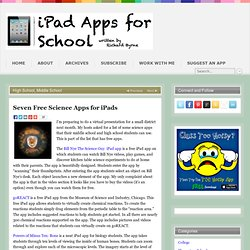 Seven Free Science Apps for iPads