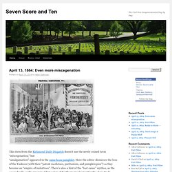 Seven Score and Ten | The Civil War Sesquicentennial Day by Day