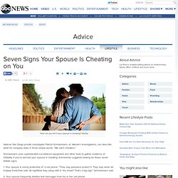 Seven Signs Your Spouse Is Cheating on You - ABC News