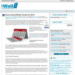 Seven Social Media Trends for 2013