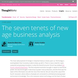 The seven tenets of new age business analysis